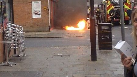 Flames erupted from underground