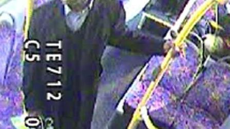 CCTV image of Gladstone Pusey on the N98 bus