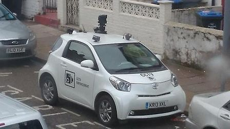 CCTV car parked in a disabled bay in Harlesden