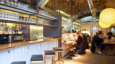 The restuarant makes good use of its former railway arch home