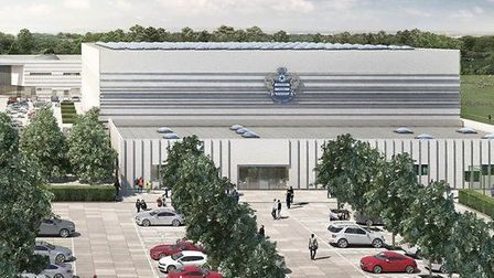 A computer-generated image of QPR's proposed new training ground at Warren Farm