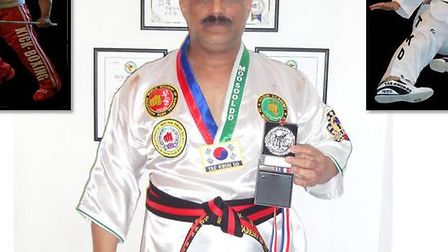 Syed Haider Mannan with his medal