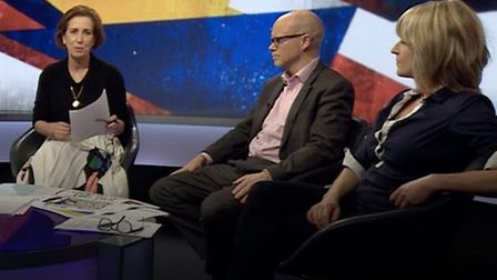 Rachel Johnson appeared on Newsnight with Camilla Tominey, Sir Craig Oliver, Toby Young and presente
