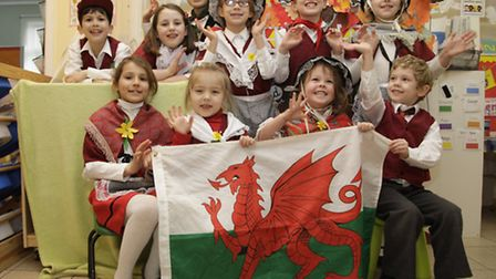 Children from London Welsh School dress up to commemorate St David's Day (pic credit: Jan Nevill)