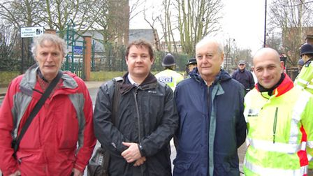 From left: John Ackers of Islington Cyclists Action Group; Cllr Andy Hull, Islington Council's execu
