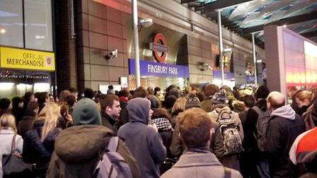 The Tube strike hit commuters at Finsbury Park last week. Picture: Tony Gay