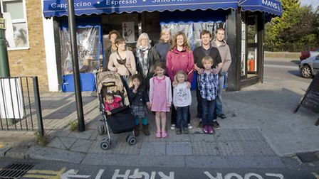 Campaigners at the dangerous junction in Harrow Road