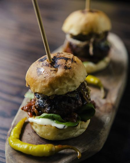 smoked basque beef burger - Greg Funnell