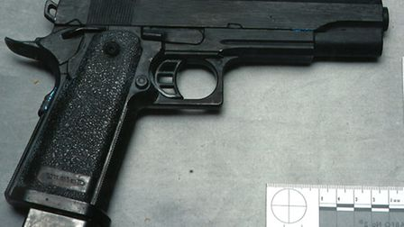 Police siezed this gun when Bradish was arrested (pic credit: Met Police)