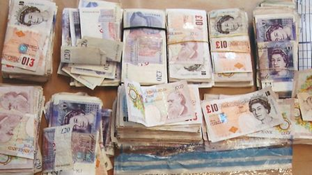 Money uncovered by police after Bradish was arrested (Pic credit: Met Police)