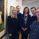 The Jones family next to a Francis Bacon repro - left to right is KELLY...KRISTIAN....KATE.....MATT.