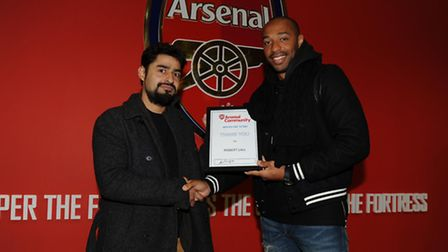 Community Presentation with Theirry Henry. Arsenal 2:0 Fulham. Barclays Premier League. Emirates Sta