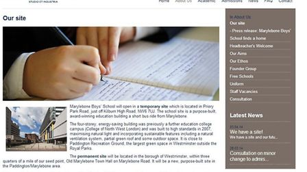 Marylebone Boy's School made the announcement today on their website