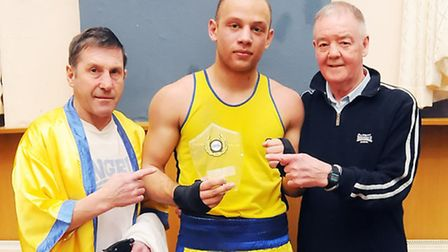 Jimmy Fielding with coaches Ivor Jones and Colin Lake