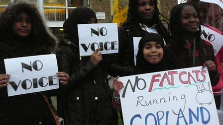 Students at Copland Community School claim they are being ignored