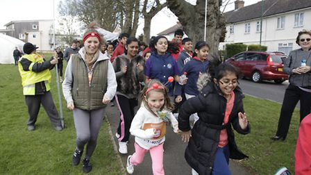 The newly established temple hosted a Sports Relief mile on Church Lane Recreation