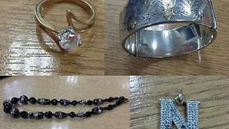 Police are trying to trace the rightful owners of these pieces of jewellery