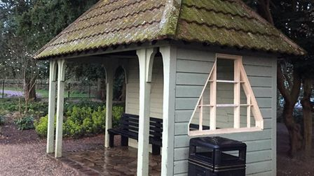 An identical shelter to the one destroyed by fire at Nicholas Everitt Park in Oulton Broad. Picture:
