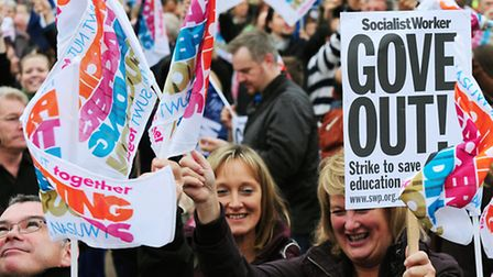 NUT members will take strike action today over pay and pension changes (Picture: PA)