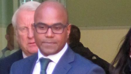Dr Dhanuson Dharmasena leaves Westminster Magistrates Court in central London where he appeared in c