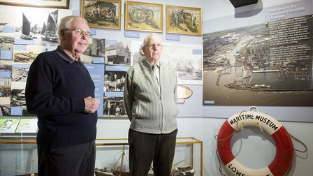 Lowestoft Maritime Museum has reopened for the new season. President Colin Dixon with chairman Jim A