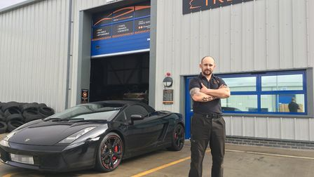 Ian Thompson hosted 'Cars and Coffee' at his tyre fitting business Treadz, based on Phoenix Enterpri
