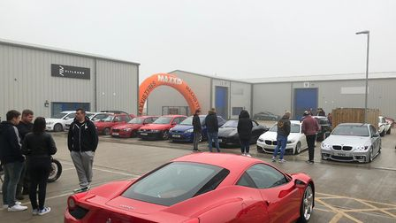 Hundreds gathered at Treadz on Phoenix Enterprise Park in Lowestoft for a Cars and Coffee meet. Pict