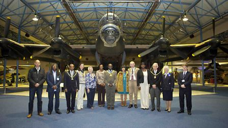 Cllr Bobby Thomas, Brent Mayor, centre, hosted the event which was attended by five other mayors (pi