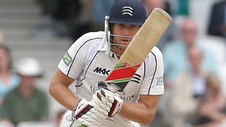 Middlesex's Dawid Malan in action