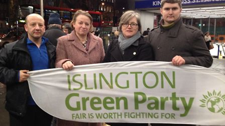 Green Party, Charlie Kiss, Natalie Bennett (Leader of Green Party), Caroline Russell and Ernestas Je