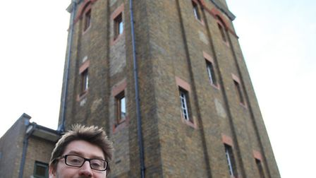 Henry Pinchbeck looks for a buyer to the Water Tower in Water Tower Place, of Old Royal Free Square.