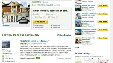 The hotel was give four out of five stars on Tripadvisor