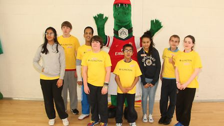 Youngsters at Islington's Disability Sports Festival.