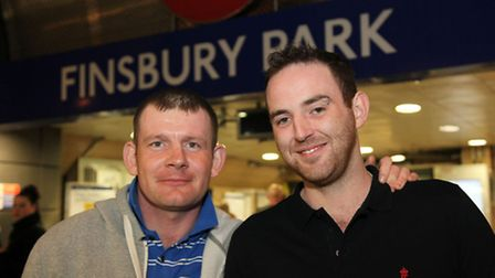 James Donaldson (left) and Liam Duggan provided medicial assistance to Jahmal nearby Finsbury Park S