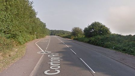 Crews were called to a caravan fire on Corton Road in Lowestoft. Picture: Google