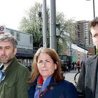 Cllr Richard Wilson, Cllr Katherine Reece and Lib Dem candidate for Stroud Green Ben Myring at Finsb