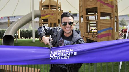 Peter Andre officially opens new children's play park in LDO (pic credit: Adrian Brooks/Imagewise)
