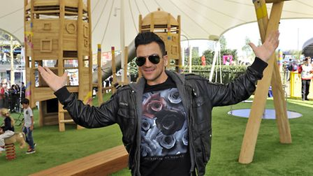 Peter Andre at the new children's play park in the LDO (pic credit: Adrian Brooks/Imagewise)