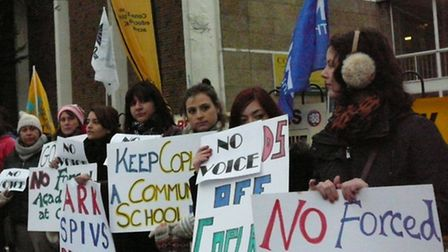 Staff at Copland School have staged six strikes over academy plans
