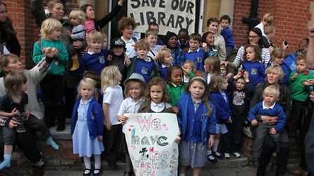 Younger members of the community came out in force to save Kensal Rise Library