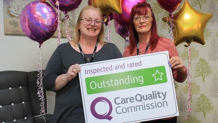 Lesley Pyner and Sandra Hammond at Clover Court in Lowestoft. PHOTO: Sanctuary Supported Living