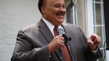 Martin Luther King III spoke at the grange in Neasden today