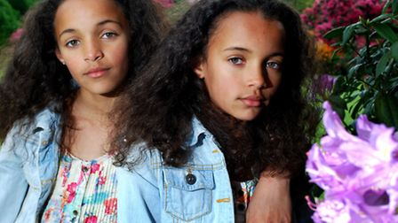 Timia and Lauren Julien-Box (both aged 9) outside Kenwood House.