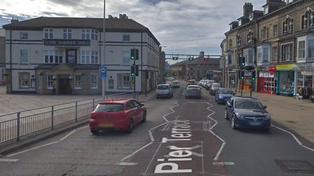 Fire crews were called to reports of a gas leak on Pier Terrace in Lowestoft. Picture: Google