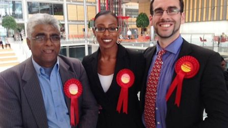 Councillors Shafique Choudhary, Sarah-Louise Marquis and Michael Pavey