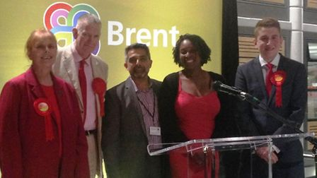 Cllr Claudia Hector, Cllr Dan Filson, Muhammed Butt, Labour candidate for Tokyngton, Dawn Butler, La