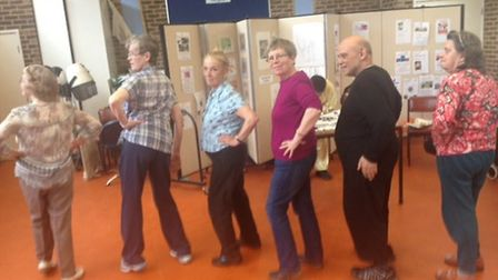 Pensioners at the Drovers Centre in Holloway try out twerking