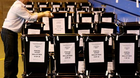 Voting has begun across London in local and European elections today (Picture: Andrew Milligan/PA Wi