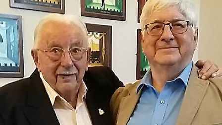 Roy Randall with the book's author Bob Dickson. Picture: Stephen Wilson