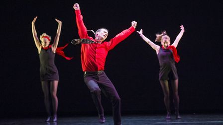 A scene from Rooster by Christopher Bruce and Rambert Dance Company -photo by �Tristram Kenton